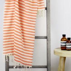 Monaco Turkish Towel in Tangerine
