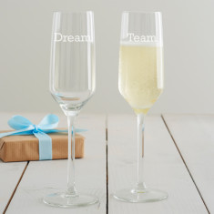 Personalised Corporate Champagne Flute Set