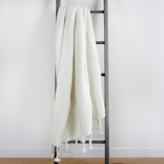 Belle Chunky Knit Throw - Cream