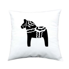 Swedish Dala horse handmade cushion cover