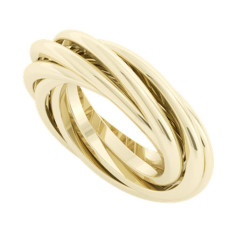 Gemelle Double Russian 9ct Yellow Gold Wedding Ring