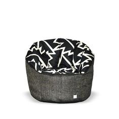 BBBYO Luxury linen armchair beanbag - spark print