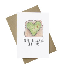 You are the avocado on my toast funny Valentine's card