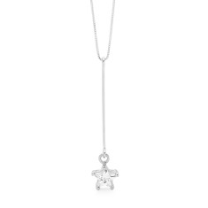 Sterling silver cubic zirconia star necklace
