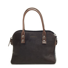 Mini Mina tote black cowhide