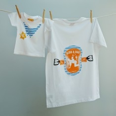 Ride-a-dad t-shirt twinset for dad and child
