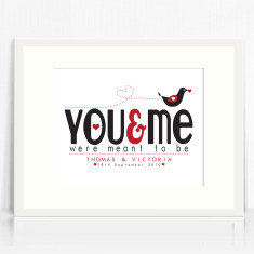 You and me love print