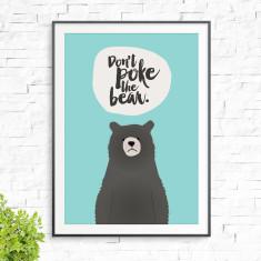 Don't poke the bear print
