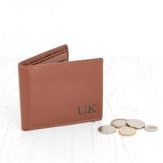 Personalised Brown Initial Wallet