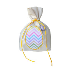 Pastel chevron egg Easter gift bag