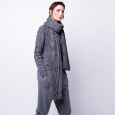 Long n chunky rib-knit cashmere scarf