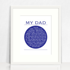 My dad personalised print