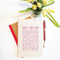 My Mum personalised reusable notebook cover (including notebook)