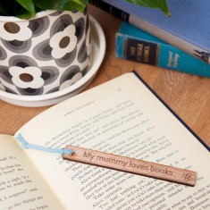 Mummy personalised wooden bookmark