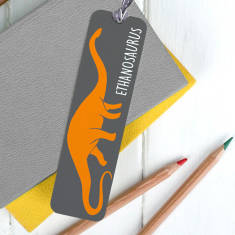Children's Personalised Dinosaur Bookmark