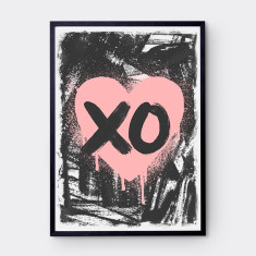 Urban scribble heart print (various colours)