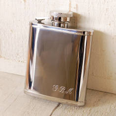 Small Pocket Hip Flask With Initials