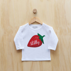 Personalised Strawberry long sleeve t-shirt