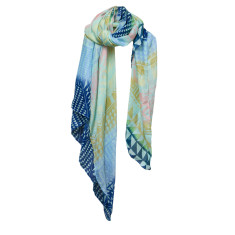 Aztec waterfall scarf
