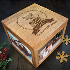 Personalised Woodland Chipmunk Christmas Memory Box