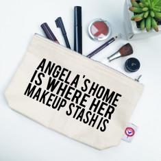 Makeup stash personalised makeup bag