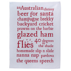 An Australian Chrissy tea towel