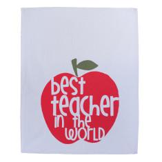 Best teacher in the world tea towel