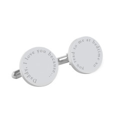 Daddy, I love you because personalised cufflinks