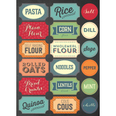 Kitchen labels (pantry and homemade)