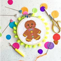 Gingerbread George Mini Cross Stitch Kit
