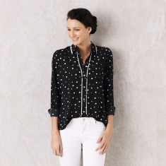 Polka dot shirt in black