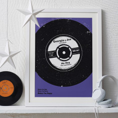 Personalised Number One Vinyl Print