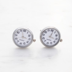 Always on time stainless steel cufflinks