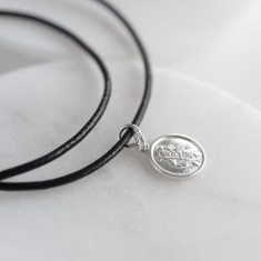 Sterling St Christopher With Leather Necklace