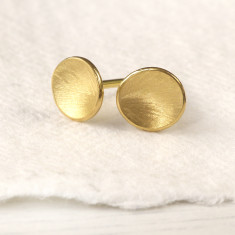 Flower Petal Studs In 18ct Gold