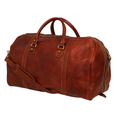 Columbus brown weekender bag