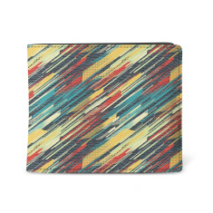 Retro 80's Sweater Vegan Leather Men's Wallet