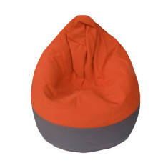 GlammCocoon two-toned beanbag cover in charcoal & orange