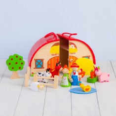 Personalised Wooden Farm Playset