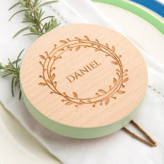 Personalised Colour Wedding Place Setting Favour Set