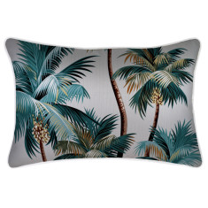 Outdoor Cushion Cover-Palm Trees White (various sizes)