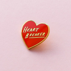Heart Breaker Red Enamel Pin