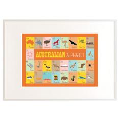 Australian alphabet print