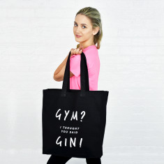 Gym gin tote bag