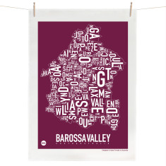 Australian Wine Regions tea towel