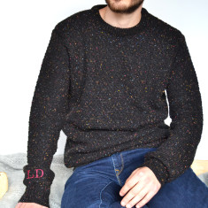 Men's Speckled Knitted Personalised Jumper