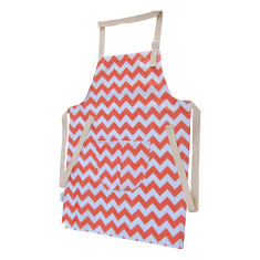 Tween size apron in orange chevron