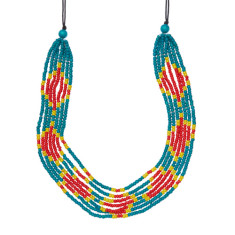 Idiyanale necklace in pink or teal