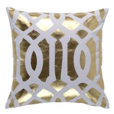 Trellis Gold Foil Indoor Cushion