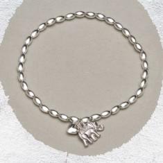 Helena silver elephant bracelet